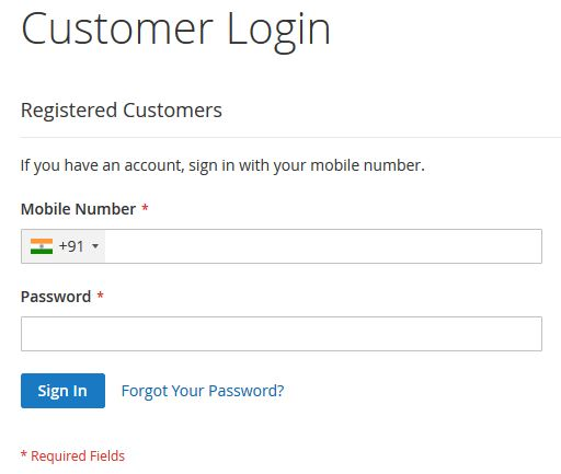 Login With Mobile Number